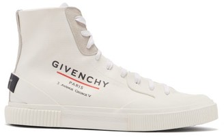 Givenchy Tennis Light High-top Coated-canvas Trainers - Mens - White