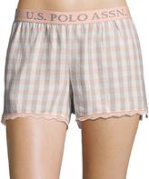 U.S. Polo Assn. Light Peach Plaid Lounge Shorts