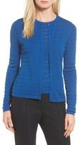 BOSS Women's Fahsa Stripe Textured Wool Cardigan