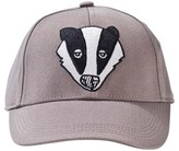 Mini Rodini Grey Embroidered Badger Cap