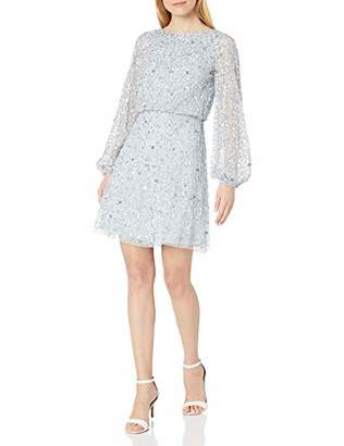 Adrianna Papell Women's Beaded A-LINE Cocktial Dress