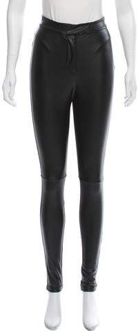 Markus Lupfer Faux Leather High-Rise Pants