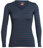 Icebreaker Women's Oasis Long Sleeve V-Neck Baselayer