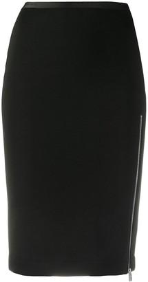 Alyx Zip Side-Slit Pencil Skirt
