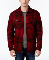 Club Room Men's Plaid Fleece Lined Shirt Jacket, Only at Macy's