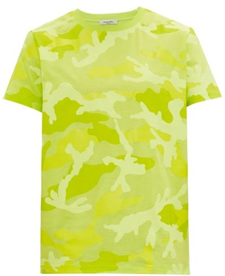 Valentino Camouflage Cotton-jersey T-shirt - Mens - Green