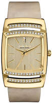 Caravelle New York Analog Bangle Collection Rectangle Horn-Finish Acetate Watch