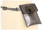 MICHAEL Michael Kors Saffiano Belt Bag With Flip Lock (Gunmetal) - Apparel