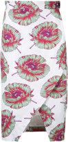Altuzarra Wilcox wrap floral skirt - women - Cotton/Polyester/Spandex/Elastane/Viscose - 40