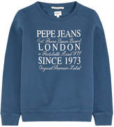 Pepe Jeans Logo print sweatshirt with sequins