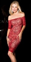 Scala Off the Shoulder Beaded Lace Dress