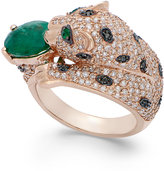 Effy Signature by Emerald (1-1/2 ct. t.w.) and Diamond (1-3/8 ct. t.w.) Panther Ring in 14K Rose Gold