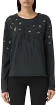 AllSaints Lao Isola Leopard Print Sweatshirt
