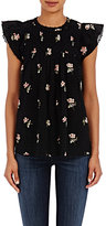 Ulla Johnson Women's Astrid Blouse-BLACK