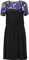 Love Moschino Lace-trimmed paneled stretch-jersey dress