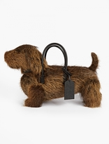 Thom Browne Brown Fur Hector Bag