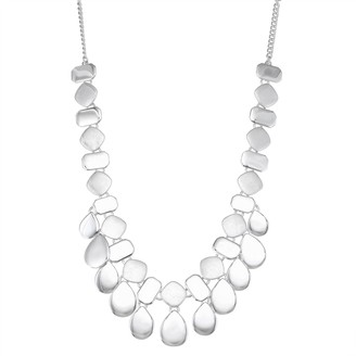 Nine West Silver Tone Dramatic Statement Necklace