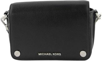 Michael Kors Jet Set Small Pebbled Leather Crossbody Bag Black