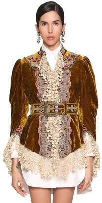 Etro Embroidered Velvet & Lace Jacket