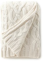 Southern Living Holiday Lux Collection Sutton Cable-Knit Throw