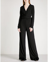 Tome Self-tie wide-leg crepe jumpsuit