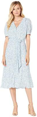 Lauren Ralph Lauren Floral-Print Georgette Dress (Mascarpone Cream Multi) Women's Dress