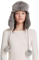 Surell Rabbit Fur Knit Aviator Hat