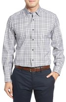 David Donahue Men's Plaid Sport Shirt