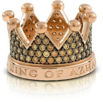 Azhar Re Silver and Zircon Crown Ring