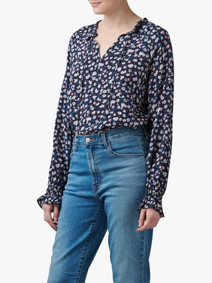 Lily & Lionel Ditsy Floral Florence Blouse, Navy