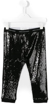 John Galliano sequin leggings - kids - Cotton/Polyester/Spandex/Elastane/Viscose - 4 yrs