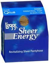 L'eggs Sheer Energy Control Top Sheer Toe Revitalizing Sheer Pantyhose Q Plus Nude