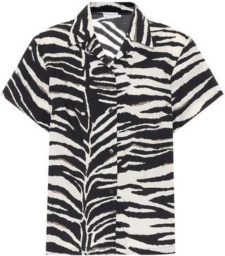 Dries Van Noten Zebra-print cotton poplin shirt