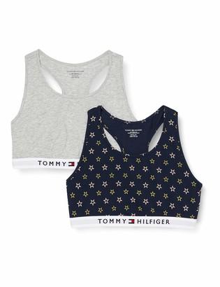 Tommy Hilfiger Girl's 2P Bralette Print Bra