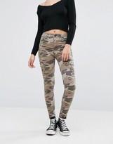 Pull&Bear Camo Skinny Jeans