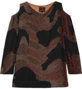 Vivienne Westwood Fatima Cold-shoulder Printed Satin Top - Brown