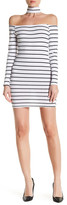 Reverse Off-the-Shoulder Starlet Striped Dress
