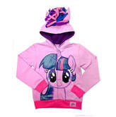 Asstd National Brand My Little Pony Toddler Girls Twilight Sparkle Costume Hoodie with Crystalline and 3D Mane and Wings