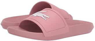 Lacoste Croco Slide 319 1 (Blue/White) Women's Shoes