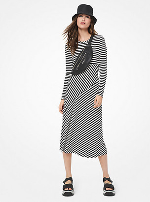 Michael Kors Striped Matte-Jersey Dress