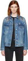 MSGM Indigo Denim Embellished Jacket