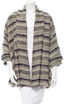 Yigal Azrouel Patterned Open Front Coat
