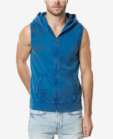 Buffalo David Bitton Men's Graphic-Print Sleeveless Zip-Up Cotton Sweatshirt