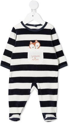 Absorba Stripe-Print Crew-Neck Pajamas