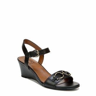 Naturalizer Womens Sonia Black White Print Ankle Straps 9.5 W