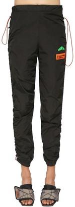Heron Preston Nylon Track Pants W/ Drawstrings