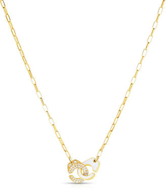 Audrey C. Jewels Partners in Crime Classic Pave Necklace, White