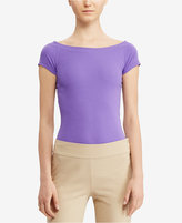 Lauren Ralph Lauren Off-The-Shoulder T-Shirt