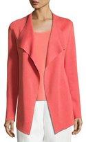 Eileen Fisher Open Interlock Jacket, Flora, Petite