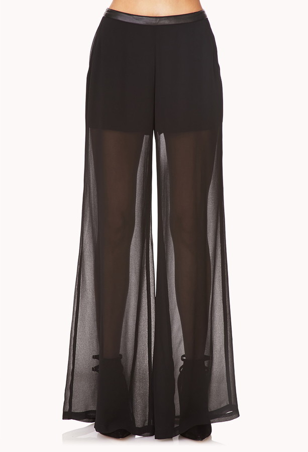Forever 21 Chic Wide-Leg Georgette Pants